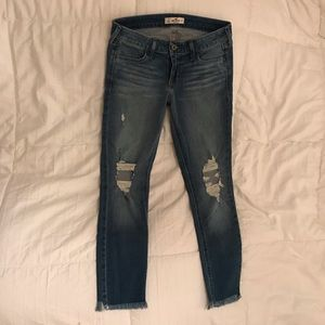 hollister skinny cropped jeans